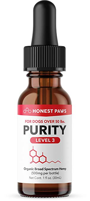 "Honest Paws ""Purity"" Full Spectrum CBD Oil Level 3"