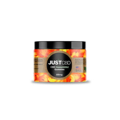 Just CBD Gummies Peach Rings 500 mg Jar