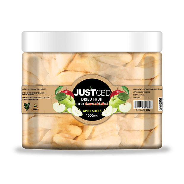 Just CBD Dried Apple Slices Fruit 1000 mg