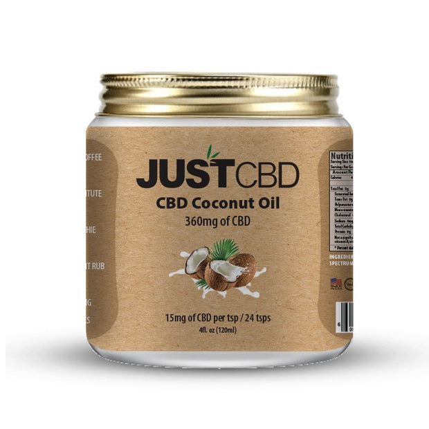 Just CBD Infused Coconut Oil 360 mg