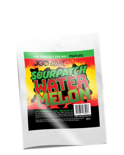 CBD Sourpatch Watermelon Gummies 250mg