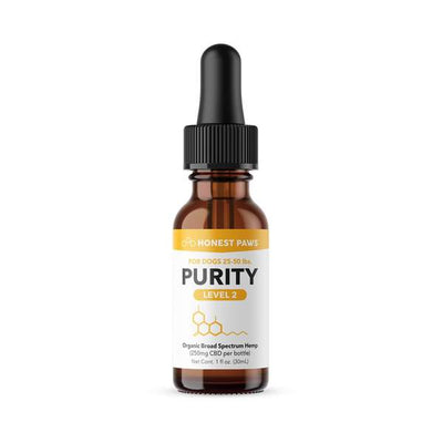 "Honest Paws ""Purity"" Full Spectrum CBD Oil Level 2"