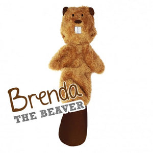 Brenda the Beaver - Stuffing Free Dog Toy
