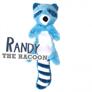 Randy the Racoon - Stuffing Free Dog Toy