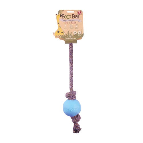 Beco Ball on Rope - various colours & sizes