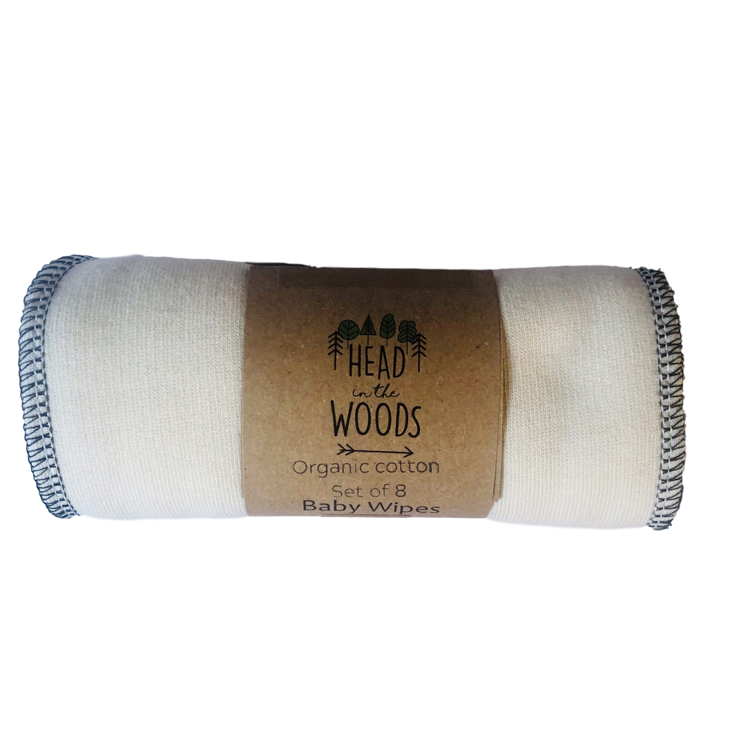 Reusable Baby Wipes - 8 pack - by Head in the Woods