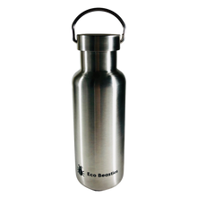 Load image into Gallery viewer, Eco Beasties Reusable Jerry Bottle 550ml - Matt Brushed Steel