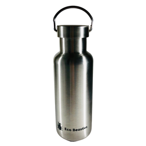 Jerry Bottle 550ml - Matt Brushed Steel - Eco Beasties Ltd Edition