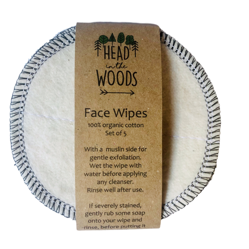 Reusable Face Wipes - 5 pack - by Head in the Woods