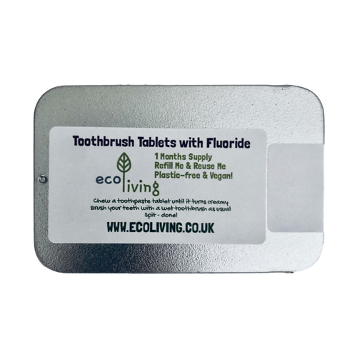 Natural Toothbrush Tablets - with Fluoride or Fluoride Free - Vegan