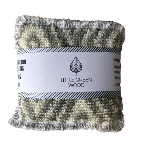 Reusable Face Wipes - Soft & Scrub 5 pack - by Little Green Wood