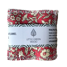Load image into Gallery viewer, Reusable Face Wipes - Soft & Smooth 5 pack - by Little Green Wood - Various Patterns