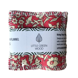 Reusable Face Wipes - Soft & Smooth 5 pack - by Little Green Wood - Various Patterns