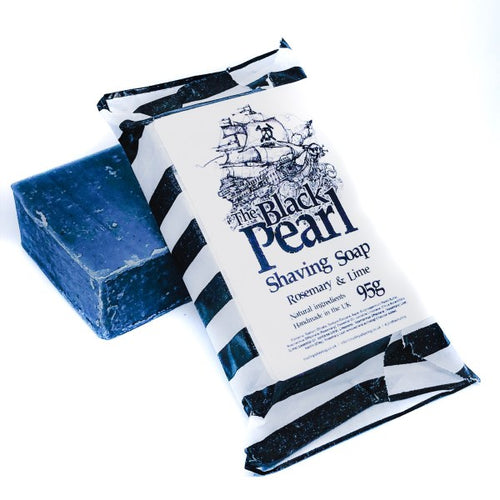 Mutiny Soap - Black Pearl - Rosemary & Lime 95g - Vegan