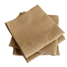 Load image into Gallery viewer, Natural Scottish Linen Napkins - Set of 4