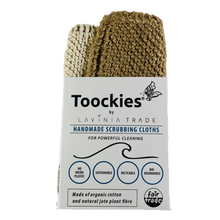 Load image into Gallery viewer, Tookies Scrubbing Cloths - Cotton/Jute - 2 pack