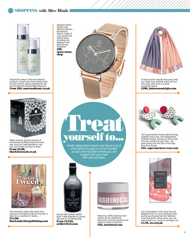 Dorsya in the press feature in The Sunday Post PS Magazine