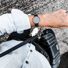 Load image into Gallery viewer, Dorsya | Cronus black mesh minimalistic watch