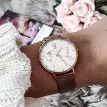 Load image into Gallery viewer, Dorsya Rose gold mesh strap
