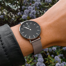 Load image into Gallery viewer, Cronus | black dial | silver mesh strap | women's watch | Dorsya