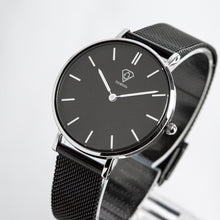 Load image into Gallery viewer, Cronus | Black dial | Black Mesh Strap | Woman watch | Dorsya