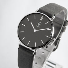 Load image into Gallery viewer, Cronus black dial | grey leather strap | woman watch | Dorsya