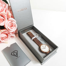 Load image into Gallery viewer, Dorsya | Watch box | Nortia rose gold mesh minimalistic watch