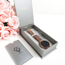 Load image into Gallery viewer, Dorsya | Watch box | Tinia rose gold mesh watch