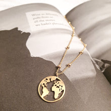 Load image into Gallery viewer, Dionne Gold Plated world map necklace | Carte du mode necklace | Dorsya
