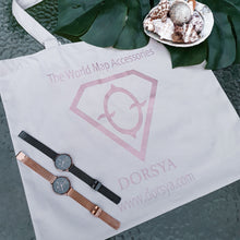 Load image into Gallery viewer, Canvas grey-rose gold tote bag Dorsya