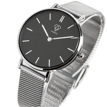 Load image into Gallery viewer, Dorsya | Cronus black silver mesh minimal watch £89