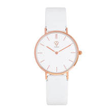 Load image into Gallery viewer, Nortia | white dial | white leather strap | ladies watch | Dorsya