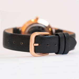 Mercury | black leather strap | Dorsya