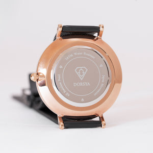 Fortuna | stainless steel rose gold watch case | Dorsya