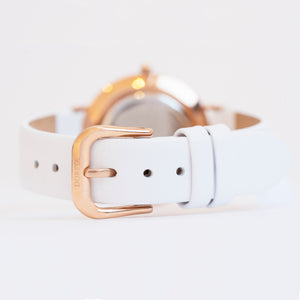 Nortia | white leather strap | Dorsya
