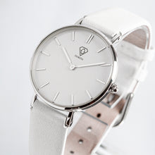 Load image into Gallery viewer, Hermera | white dial | white leather strap | ladies watch | Dorsya