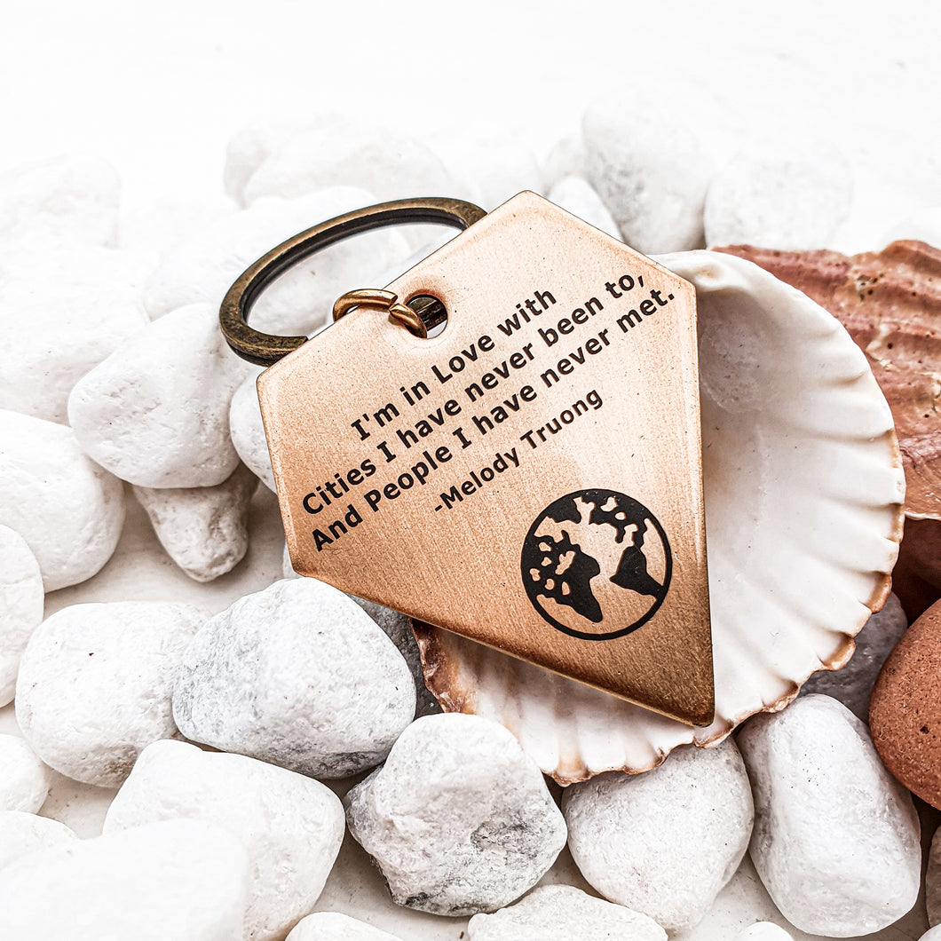 Keychain | Travel accessory | Keyring | Dorsya | quote keyring - forever in love