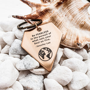 Keychain | Travel accessory | Keyring | Dorsya | quote keyring - soul on fire