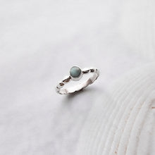 Load image into Gallery viewer, Laguna Silver Boho Ring with Larimar Stone