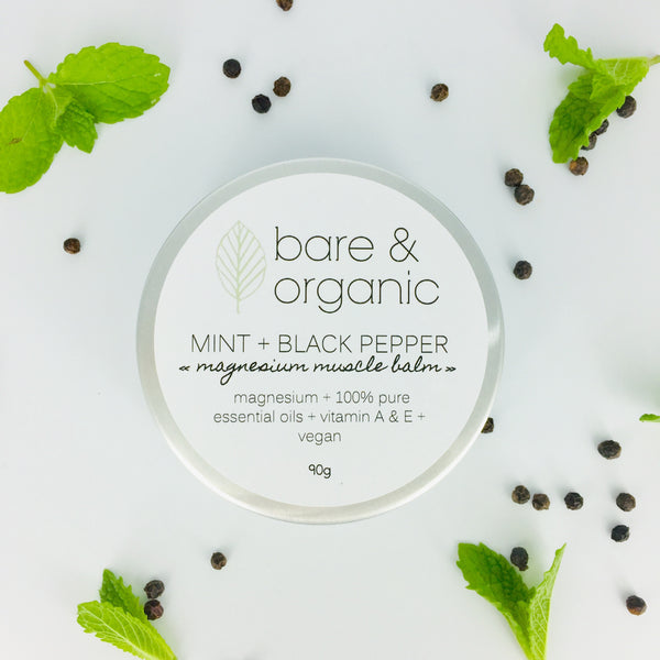 MINT + BLACK PEPPER || magnesium muscle balm