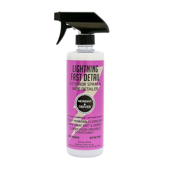 Midnight Driver Lightning Fast Detail detailer spray colorless