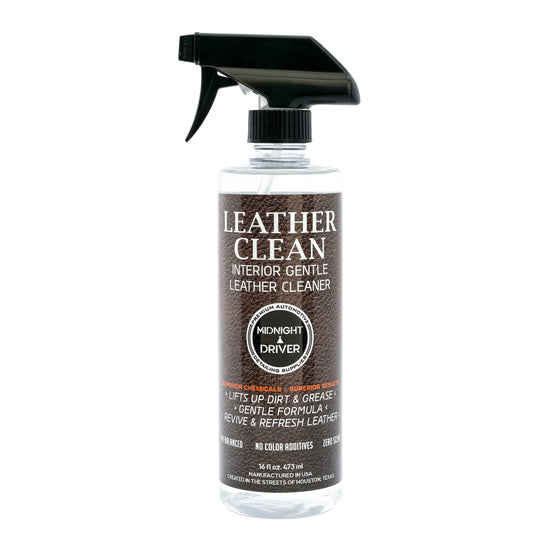 Midnight Driver Leather Clean interior leather vinyl cleaner