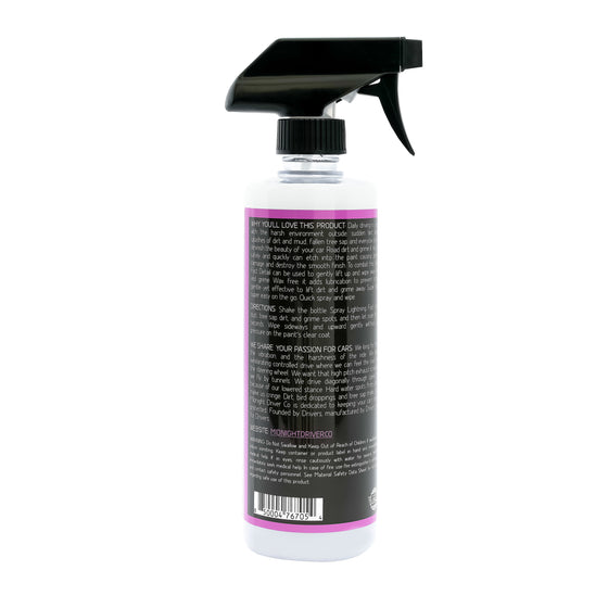 Midnight Driver Lightning Fast Detail detailer spray instructions colorless