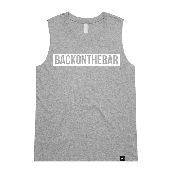 Back On The Bar Women's Block Tank Top Athletic Heather