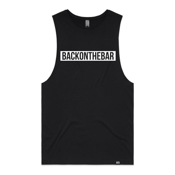 Back On The Bar Block Tank Black