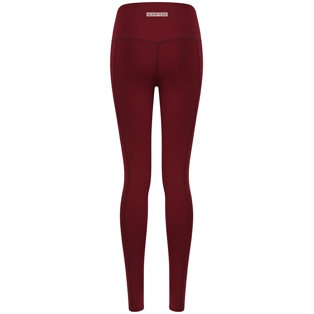 Women's Core Leggings - Deep Burgundy