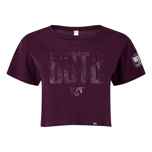 BOTB GRUNGE Crop Top Mulberry