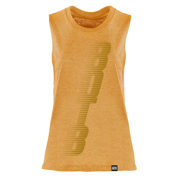 BOTB Ladies Muscle Tank Antique Gold