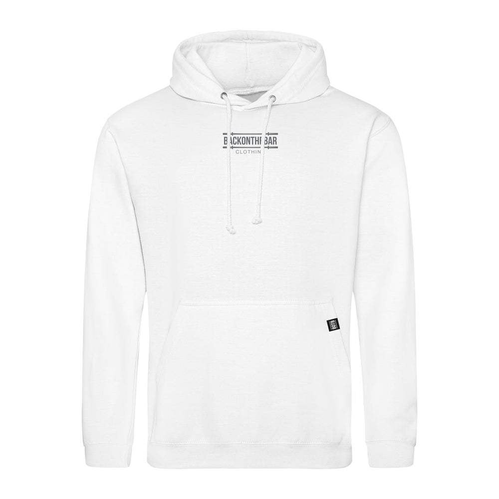 Barbells & Chain Hoodie - Arctic White