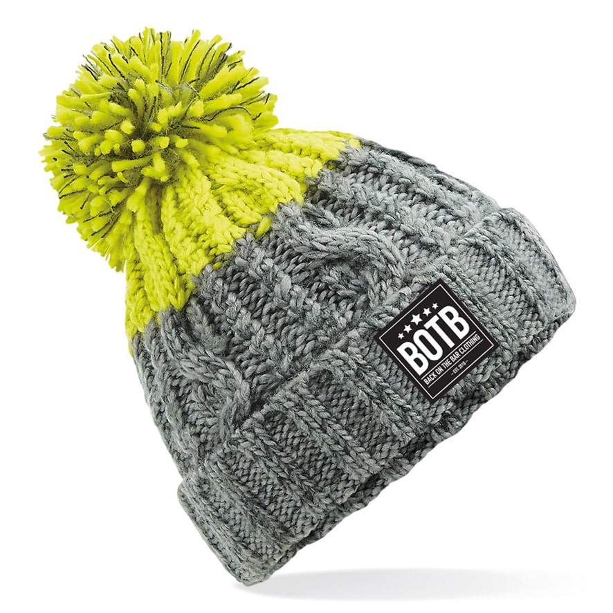 Apres Beanie - Light Grey / Citron